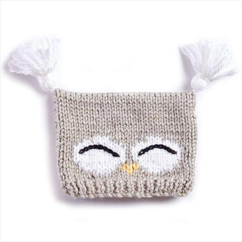Free Knit Pattern - I'm a Hoot Knit Hat in Bernat Softee Chunky yarn