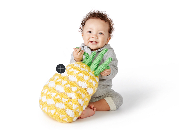 Easy Juicy Pineapple Crochet Pillow