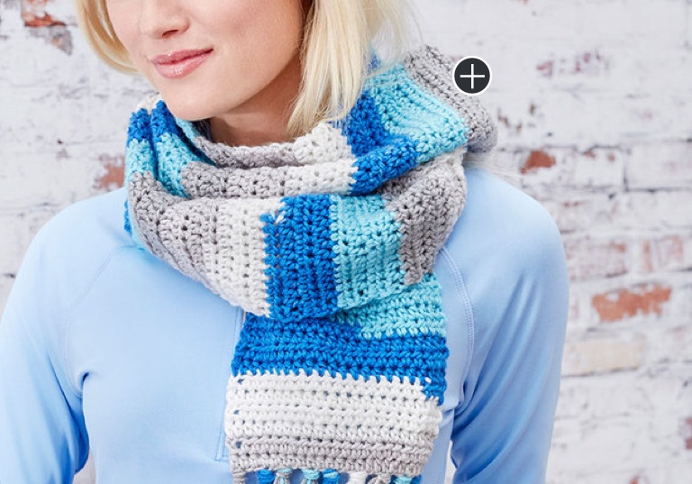 Easy Self-Striping Crochet Scarf