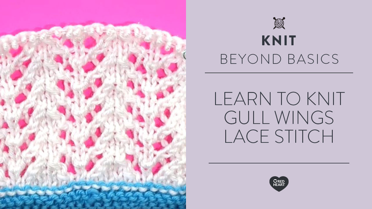 Learn to Knit Gull Wings Lace Stitch