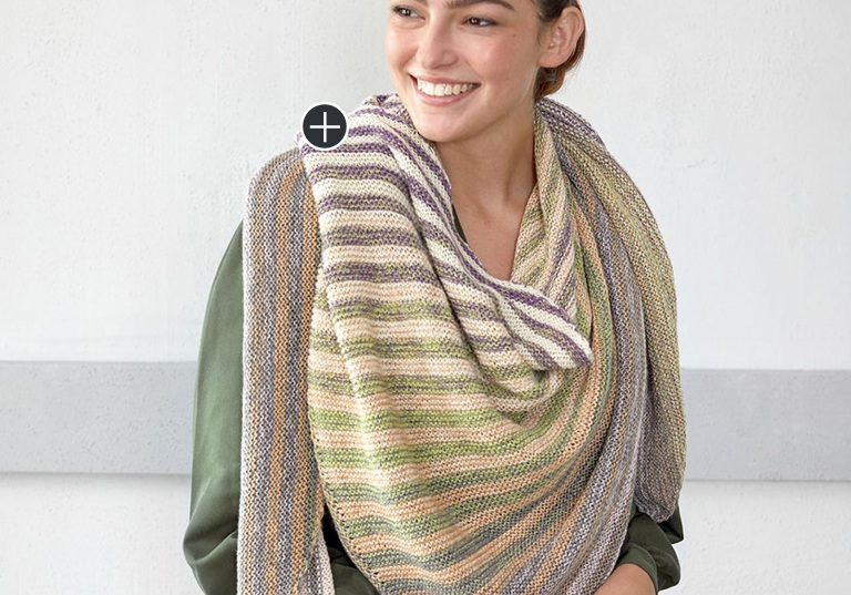 Easy Shifting Shapes Knit Shawl