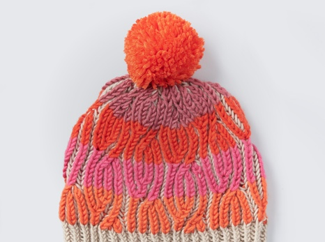 Brioche Cables Knit Hat