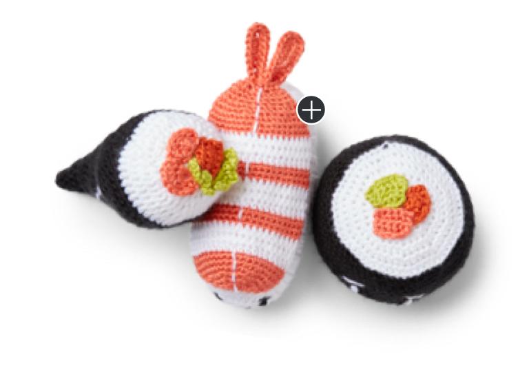 Intermediate Sushi Dinner Crochet Set