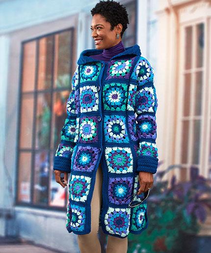 Glam Granny Coatigan Free Crochet Pattern LW5297