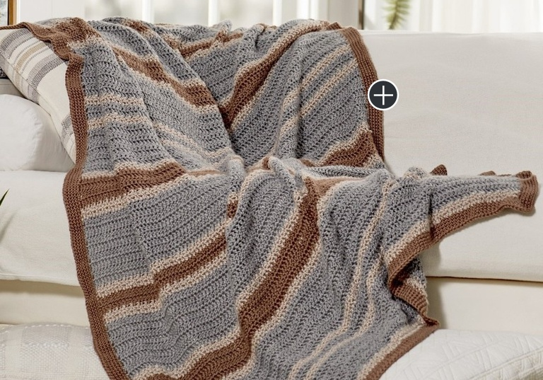 Easy Menswear Crochet Throw