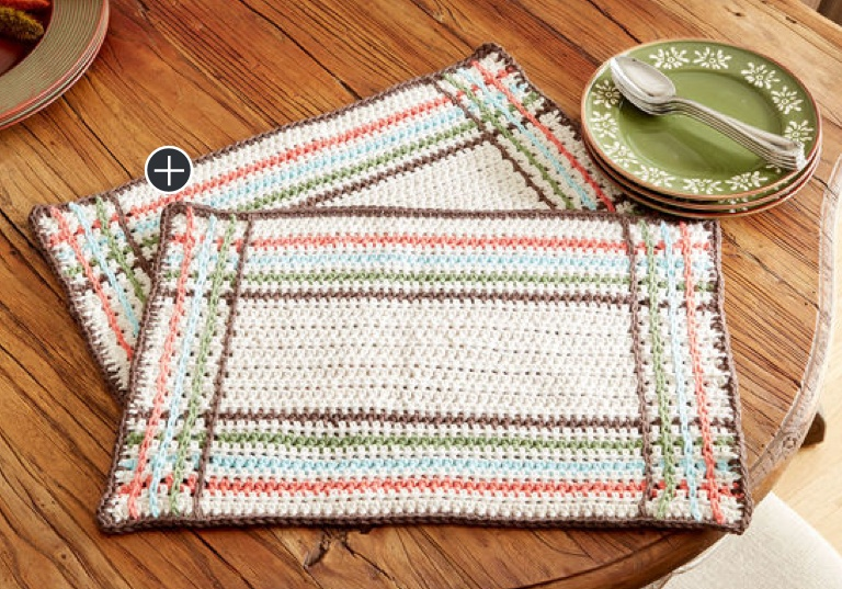 Easy Mad for Plaid Crochet Placemat