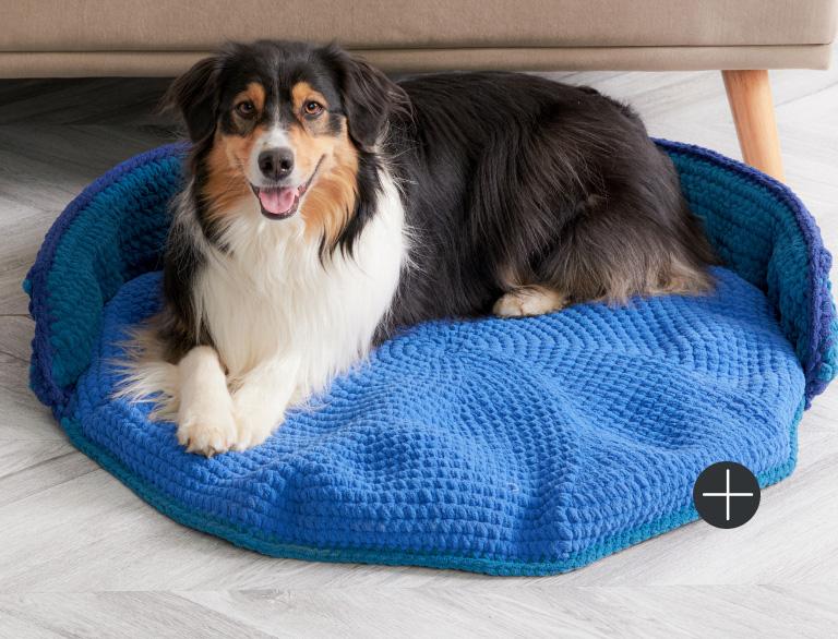 image of Bernat Crochet Pet Bed Blanket
