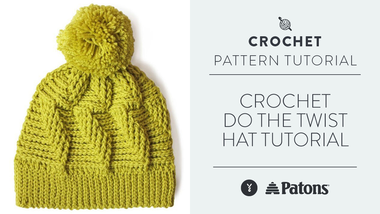 Crochet: Do The Twist Hat Tutorial
