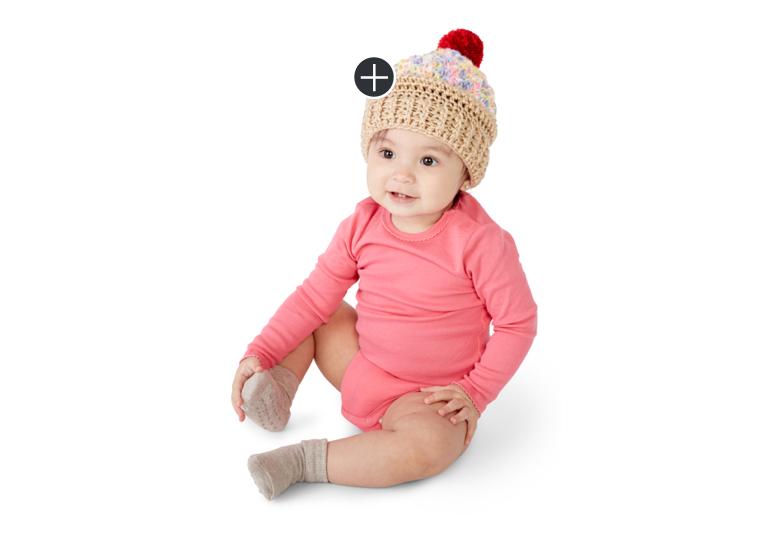 Easy Ice Cream Swirl Crochet Hat