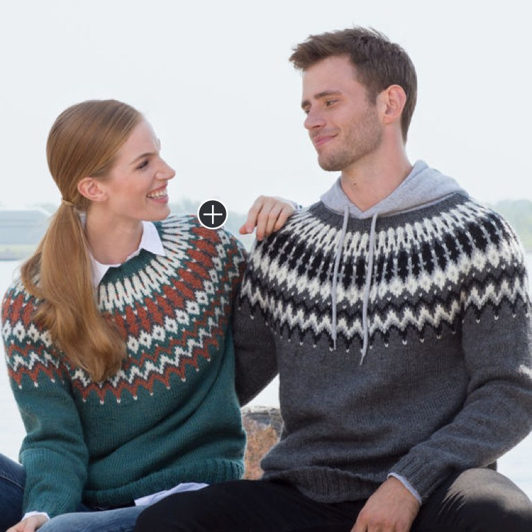 Intermediate Gayle's His and Hers Knit Yoke Sweaters