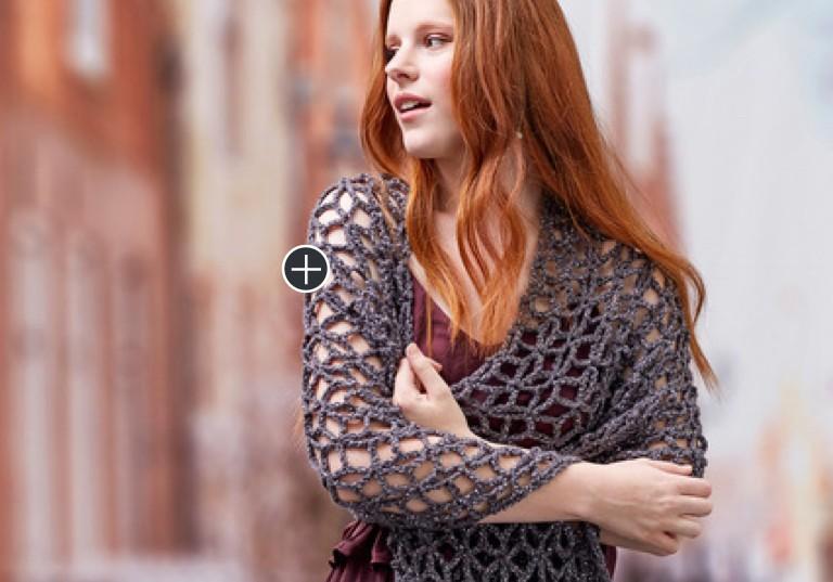 Easy Glamorous Crochet Wrap