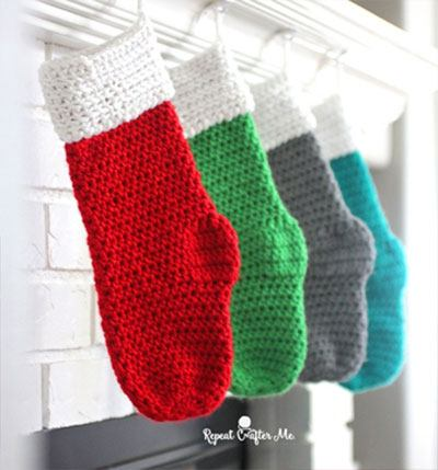Caron Christmas Stocking by RepeatCrafterMe