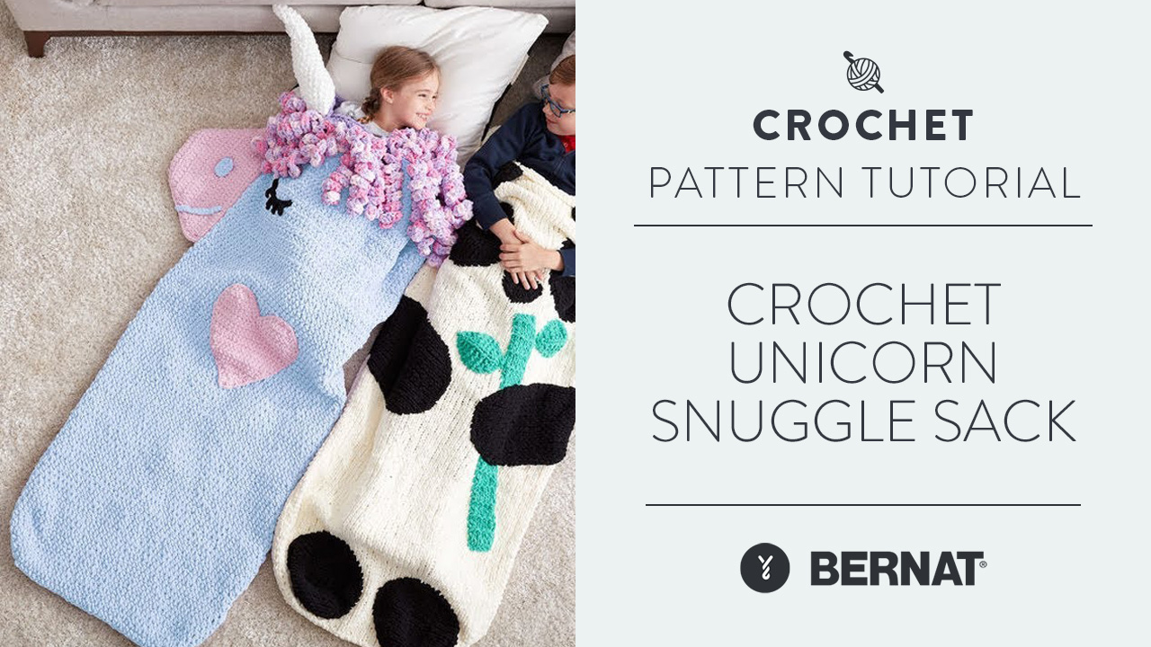 Crochet: Unicorn Snuggle Sack