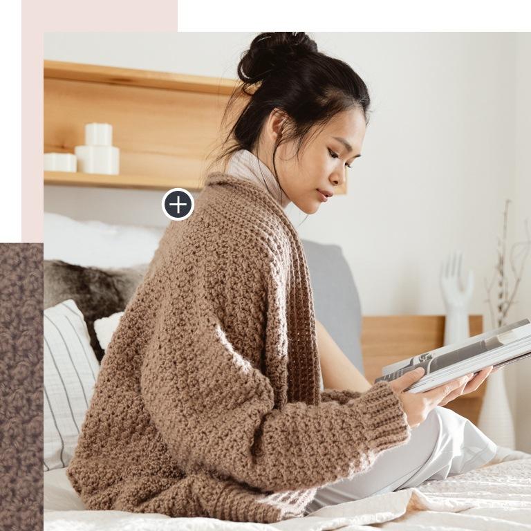 Easy Cozy Textured crochet Cardigan