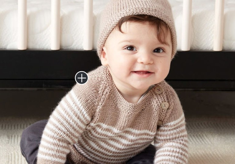 Easy Wee Stripes Knit Pullover and Hat