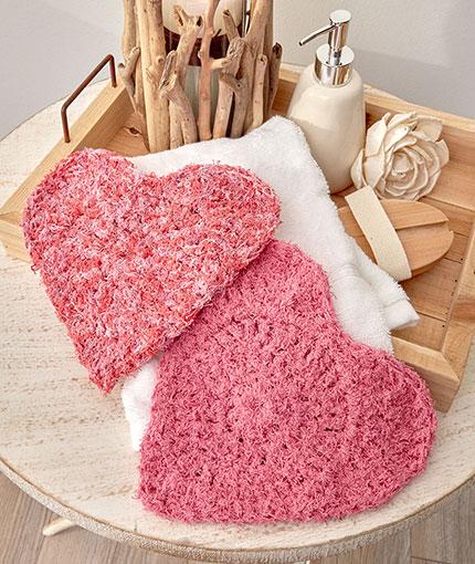 Here's My Heart Scrubby Free Crochet Pattern LW5576