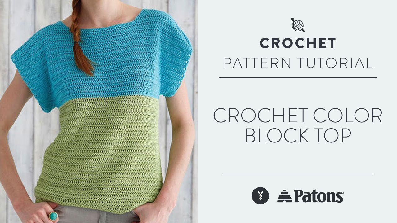 Crochet Color Block Top