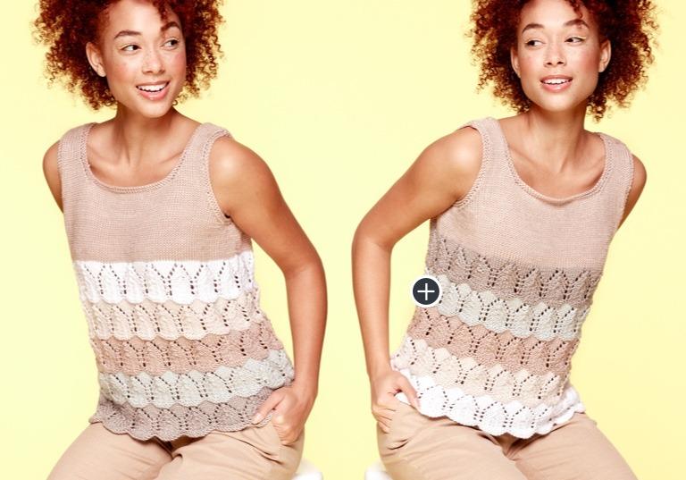 Caron x Pantone Bamboo Lacy Knit Tank