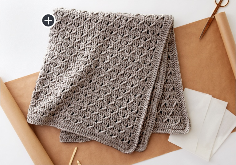 Easy Crochet Lattice Lapghan