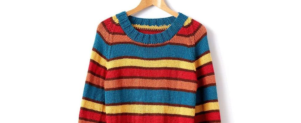 4 Rules of Striping in a knit sweater