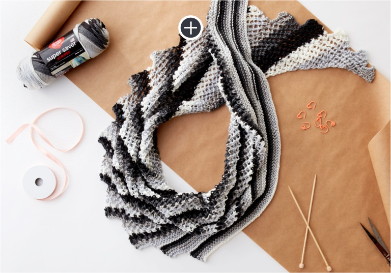 Easy On the Go Knit Shawl