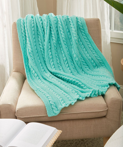 lw5797 knit cables throw