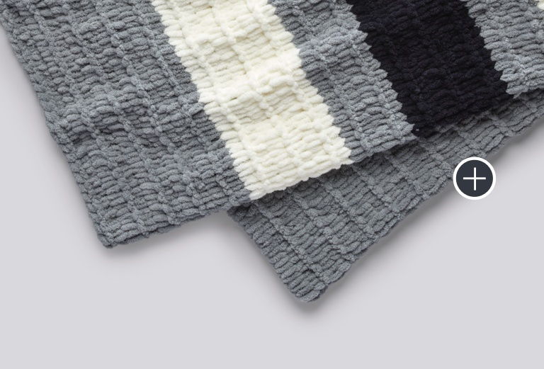 Bernat Blanket-EZ Bold Stripes Blanket