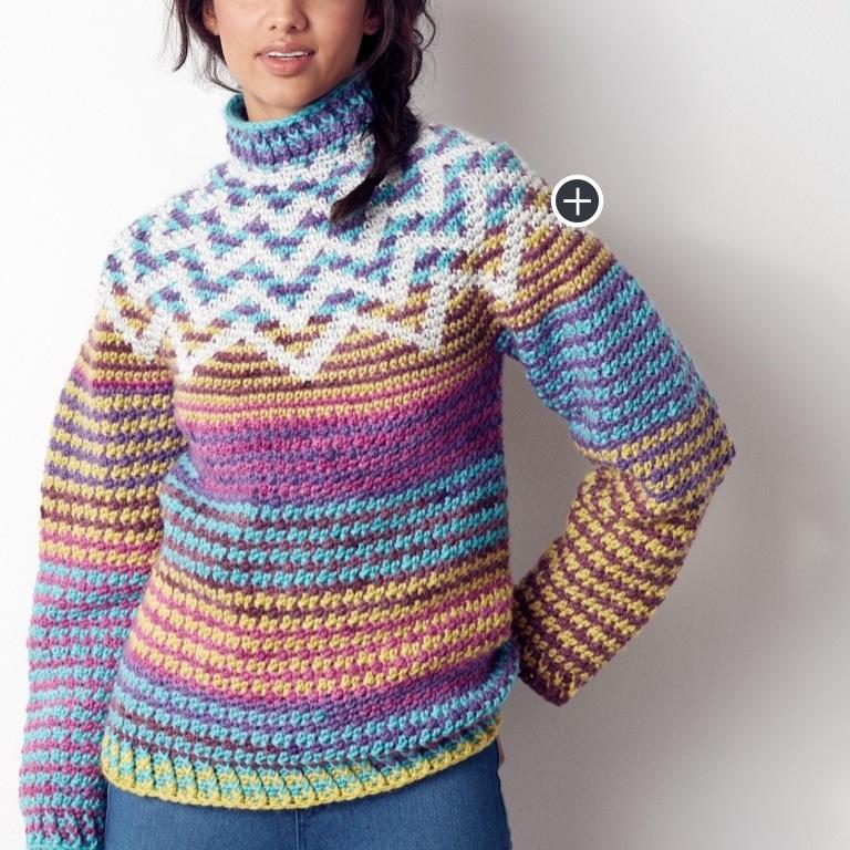 Intermediate Crochet Zig-Zag Sweater
