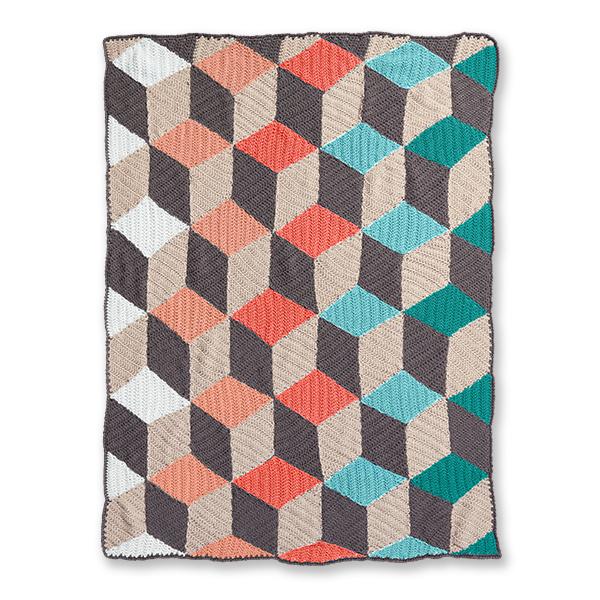 Illusion Infusion Crochet Blanket Free Pattern