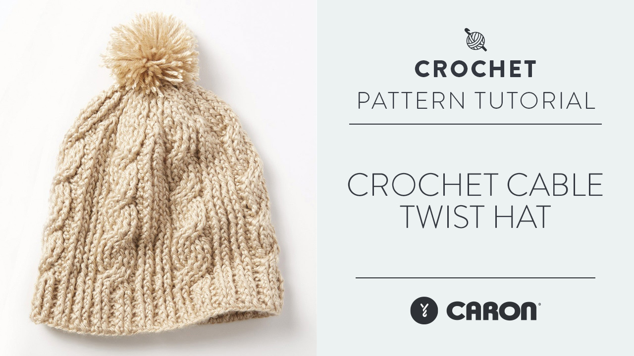 Crochet Cable Twist Hat