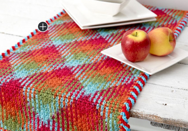 Intermediate Crochet Argyle Table Runners