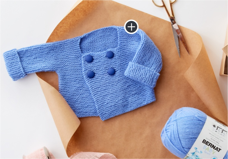 Beginner Baby's First Knit Jacket