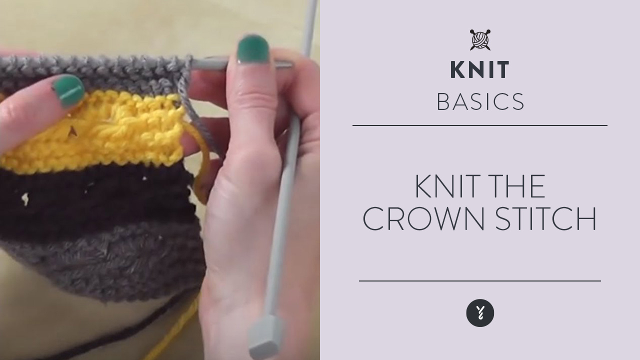 Knit the Crown Stitch