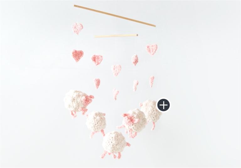 Easy Crochet Sheep Mobile