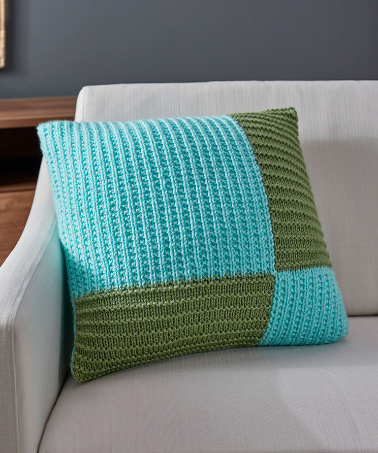 Modern Knit Pillow Free Pattern LW6014