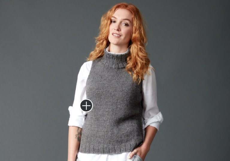 Easy Sleeveless Knit Turtleneck