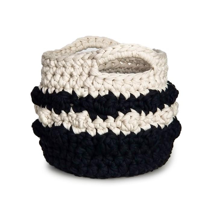 Bernat Bobble Stripe Crochet Basket