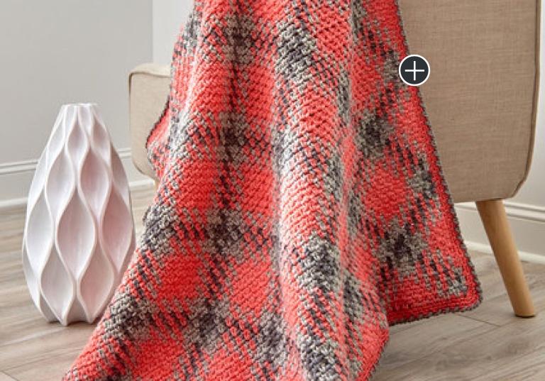 Easy Crochet Argyle Blanket or Throw
