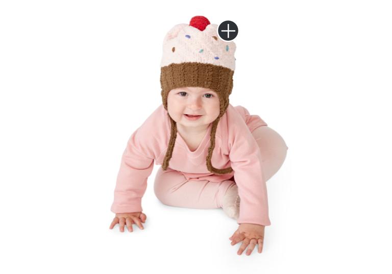 Intermediate Red Velvet Knit Cupcake Hat