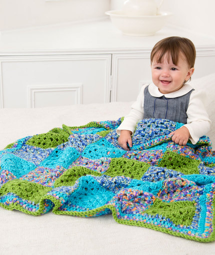 Many Squares Baby Blanket