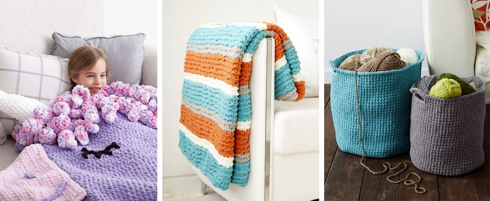 Crochet Unicorn Snuggle Sack, Get Fresh Knit Throw, Crochet Stash Baskets