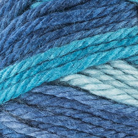 E857 Red Heart Soft Essentials Stripe yarn in 7940 Maritime Stripe
