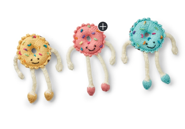 Intermediate Sweet Knit Donut Toy