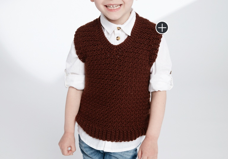 Easy Crochet V-Neck Vest