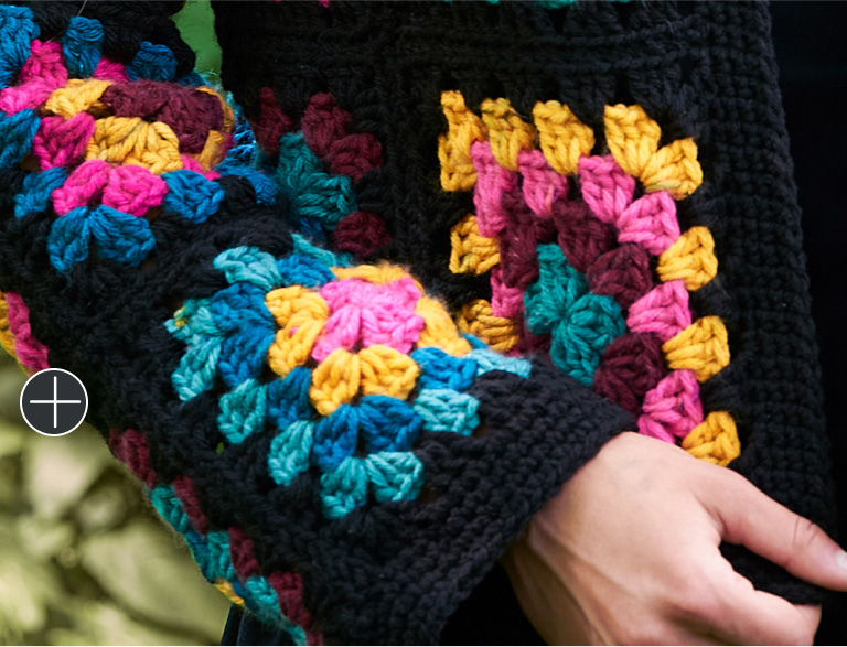 Easy Red Heart Granny Square Jacket