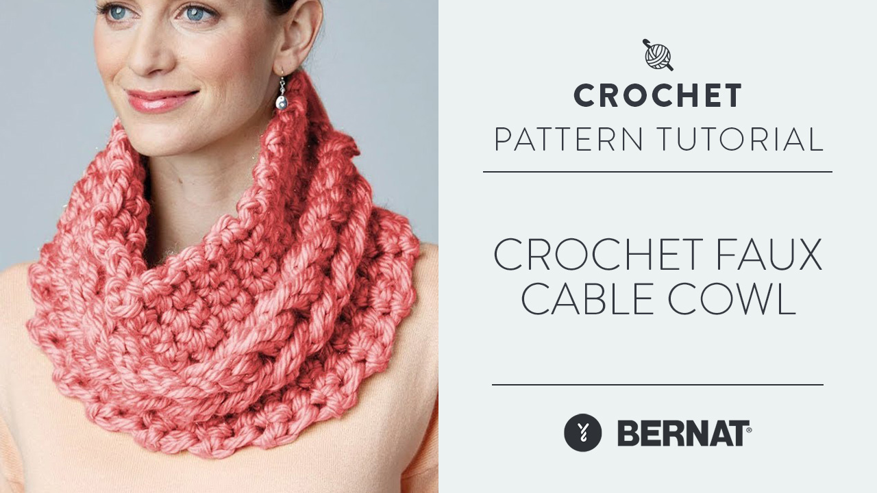 Crochet Faux Cable Cowl