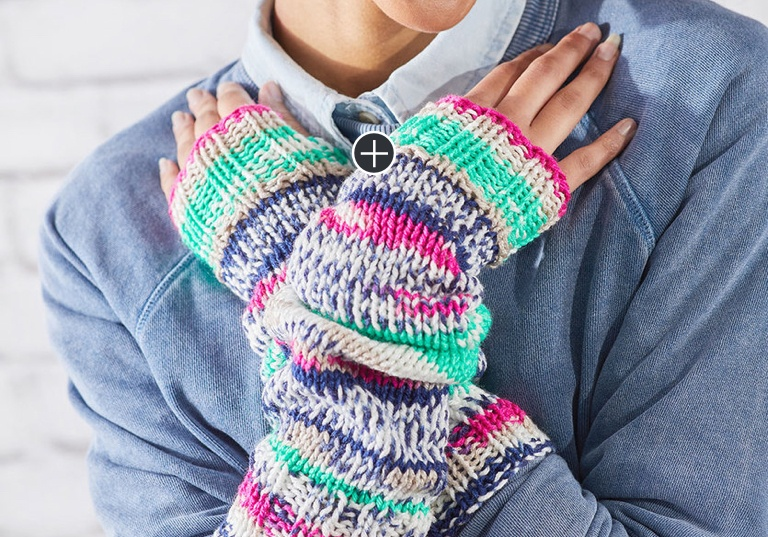 Easy Knit Fair Isle Arm Warmers