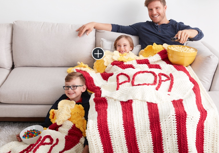 Intermediate Pop! Pop! Popcorn Crochet Snuggle Sack