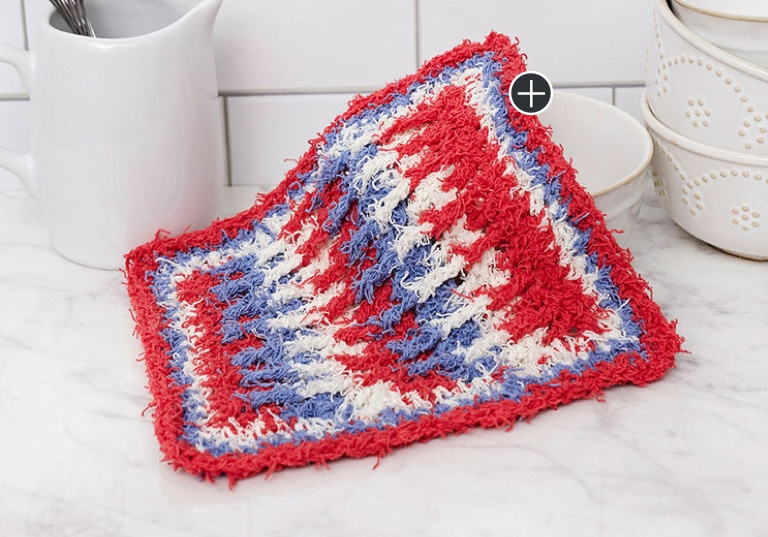 Easy Post Stitch Crochet Washcloth