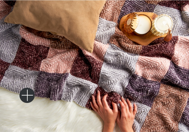 Bernat mitered square blanket